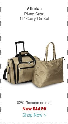 """Athalon Plane Case 16"""" Carry-On & Tote Set"""