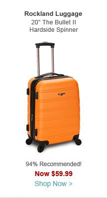 """Rockland Luggage 20"""" The Bullet II Hardside Spinner Carry-On"""