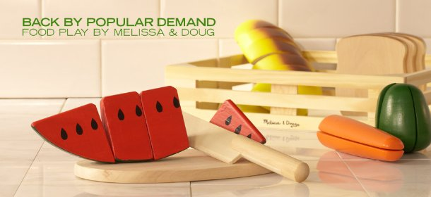 BACK BY POPULAR DEMAND: FOOD PLAY BY MELISSA & DOUG, Event Ends September 24, 9:00 AM PT >