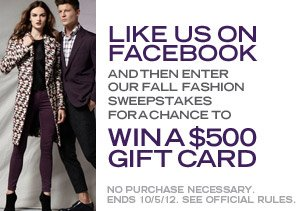 FALL FASHION SWEEPSTAKES