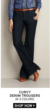 Curvy Denim Trousers
