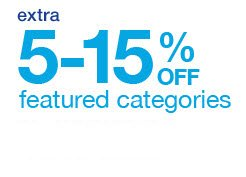 extra 5-15% off featured categories