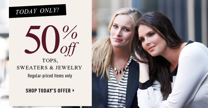 Today Only! 50% off. Shop Today's Offer
