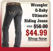 Wrangler Q-Baby Ultimate Rigid Jeans $44.99