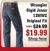 Wrangler Rigid Jeans 13MWZ Original Fit $19.99