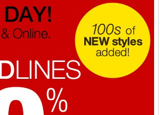 70% Off All Redlines, 50% off Jewerly! Shop Now!
