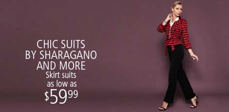 Chic Suits by Sharagano