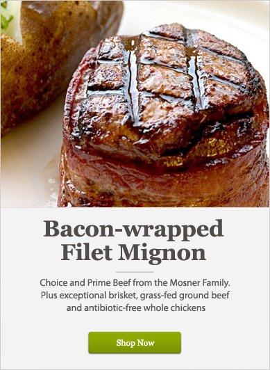 Bacon-wrapped Filet Mignon - Shop Now