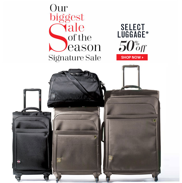 50% Off Select Luggage