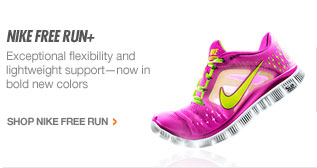 NIKE FREE RUN+ | Exceptional flexibility and lightweight supportnow in bold new colors | SHOP NIKE FREE RUN