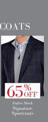 65% OFF* Entire Stock Signature Sportcoats