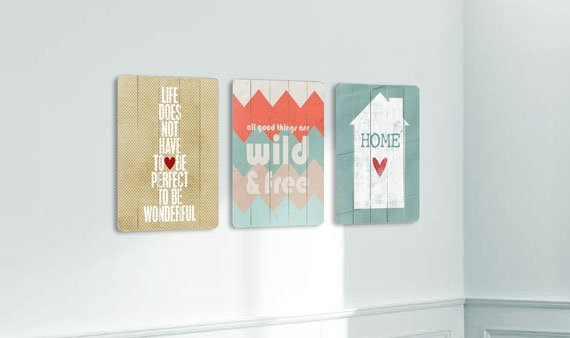The Whimsical Wall: Distressed Wood Art -- Visit Event