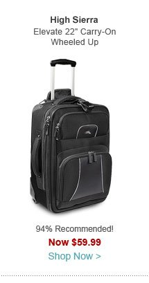 "High Sierra Elevate 22"" Carry-On Wheeled Upright"