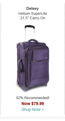 "Delsey Helium SuperLite 21.5"" Carry-On Exp. Trolley"