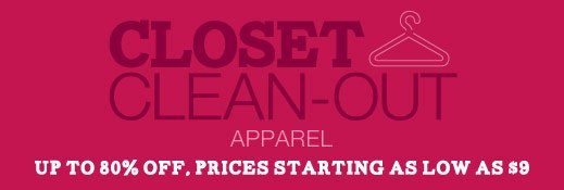 Closet Clean-Out - Apparel