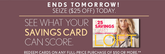 ENDS TOMORROW!