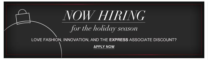 Work at Express. Apply Now