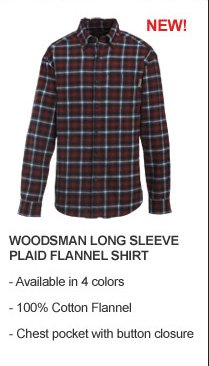 Woodsman Long Sleeve Plaid Flannel Shirt