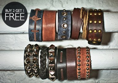 Shop Leather Bracelets, Necklaces & More
