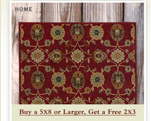 Home - Buy a 5x8 or Larger, Get a Free 2x3