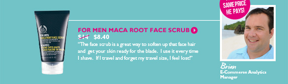 For Men Maca Root Face Scrub