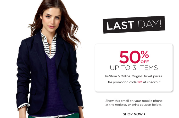 LAST DAY! 50% OFF UP TO 3 ITEMS