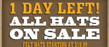 1 Day Remaining all Hats on SALE!