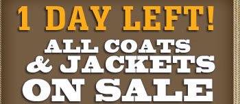 1 Day Left All Coats on Sale