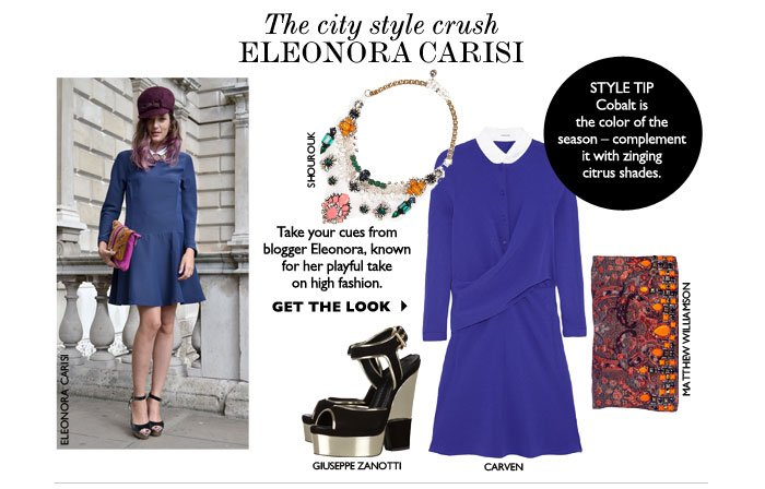 THE CITY STYLE CRUSH ELEONORA CARISI – Take your cues from blogger Eleonora, known for her playful take on high fashion. GET THE LOOK