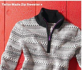 Tailor Made Zip Sweater >