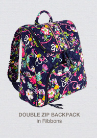 Double Zip Backpack in Ribbons