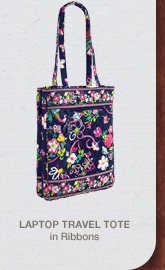 Laptop Travel Tote in Ribbons