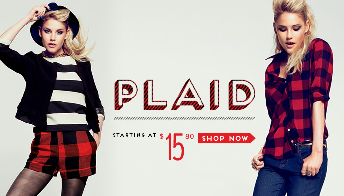 Plaid Starting at $15.80 - Shop Now