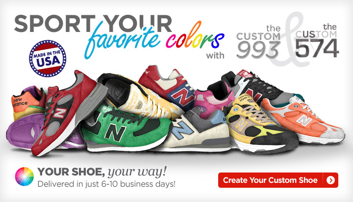 Sport you favorite colors with the Custom 993 & Custom 574