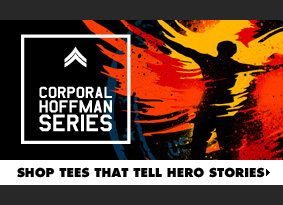 Corporal Hoffman Series - Shop tees that tell hero stories.