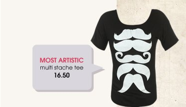 Wet Seal - Most Popular - Mustache Tee