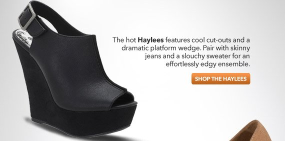 Shop the Haylees platform wedge