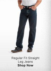 REGULAR FIT STRAIGHT LEG JEANS