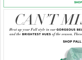Step up your Fall style with sweaters in any hue! Plus, enjoy this coupon through Thursday! In store and online - Go Now!