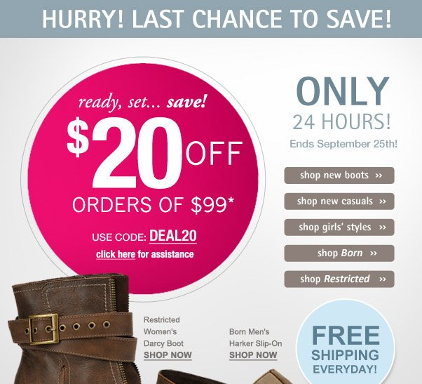 Don't miss out - $20 off ends soon!