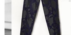 Dark Floral Trousers By Boutique
