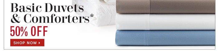 50% Off Duvets & Comforters