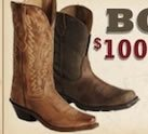 $100 to $200 Boots