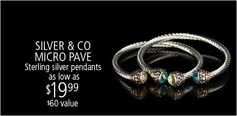 SILVER & CO: MICRO PAVE