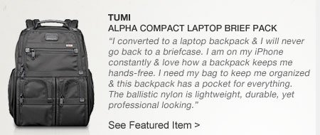 TUMI | Alpha Compact Laptop Brief Pack
