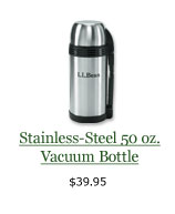 Stainless-Steel 50 oz. Vacuum Bottle, $39.95