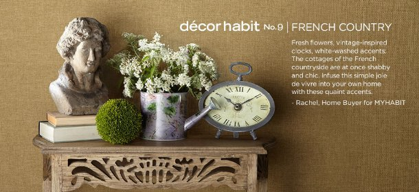 DCOR HABIT #9: FRENCH COUNTRY, Event Ends September 29, 9:00 AM PT >