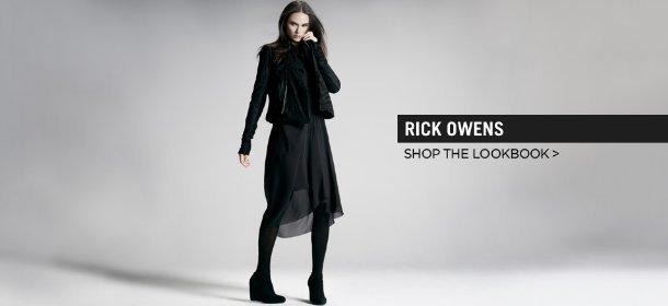 RICK OWENS: SHOP THE LOOKBOOK, Event Ends October 1, 9:00 AM PT >