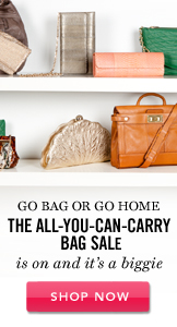 The All-You-Can-Carry Bag Sale. Set A Reminder.