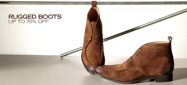 RUGGED BOOTS: UP TO 70% OFF